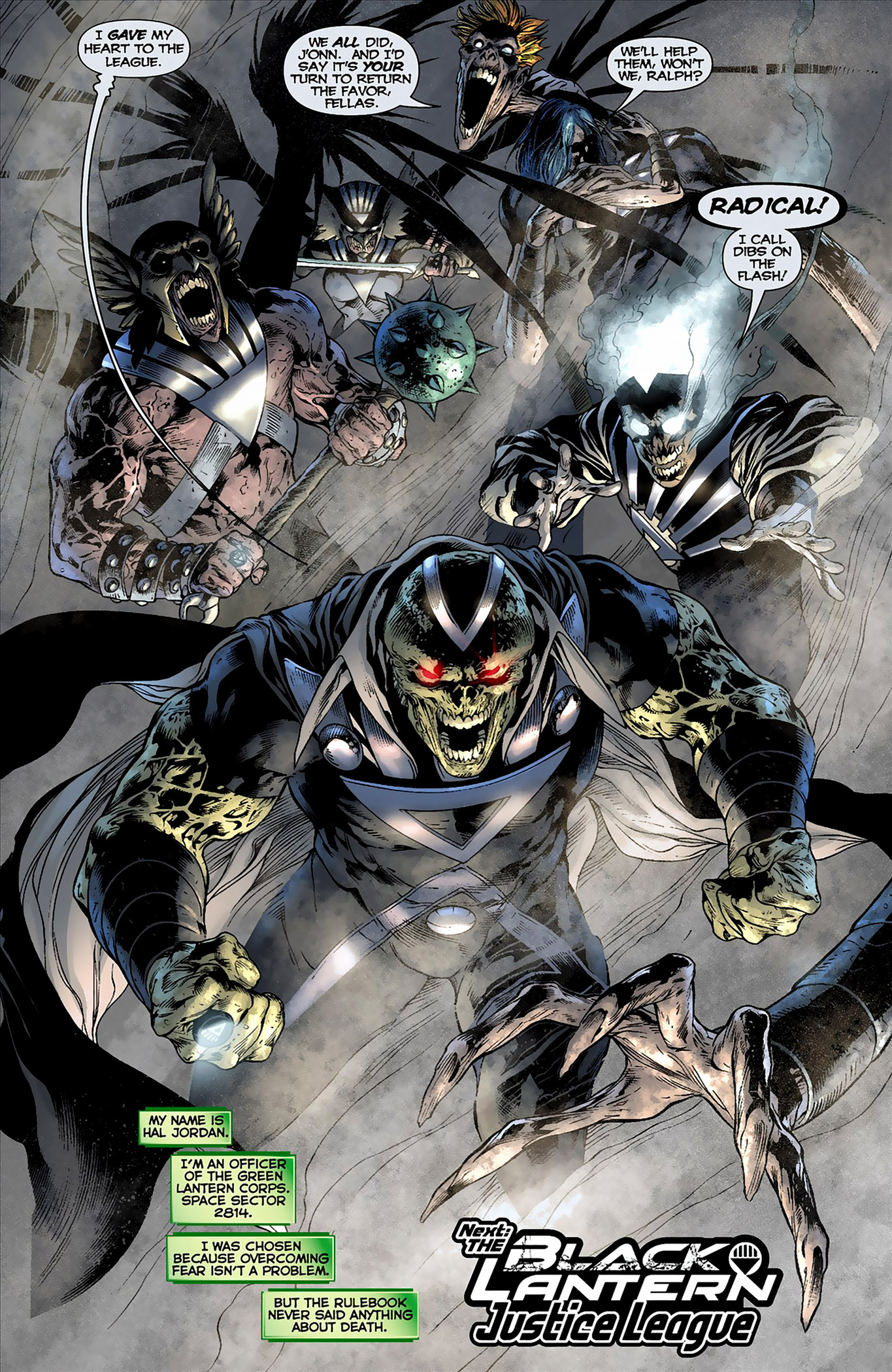 justice league members turned black lanterns
