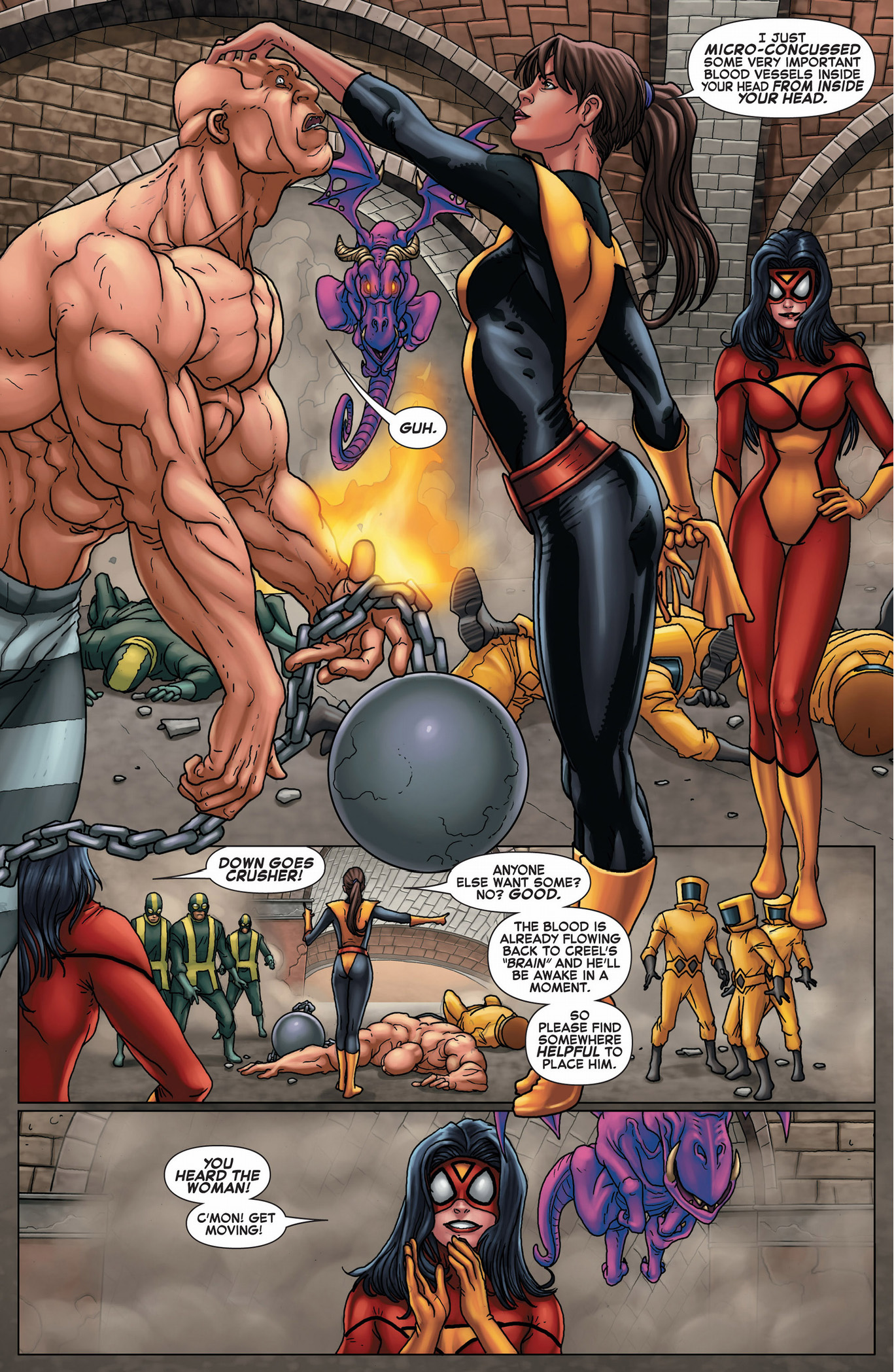 kitty pryde takes down the absorbing man