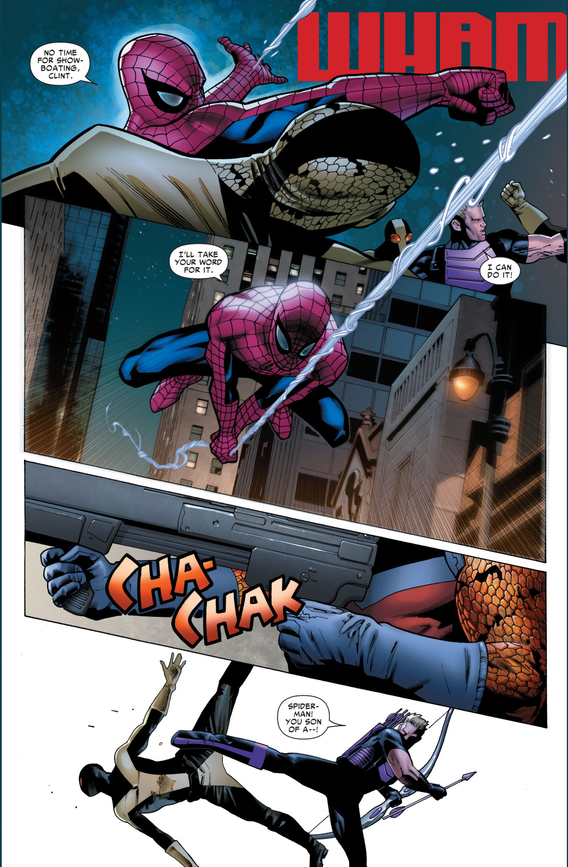 spider-man's selfless gesture to hawkeye