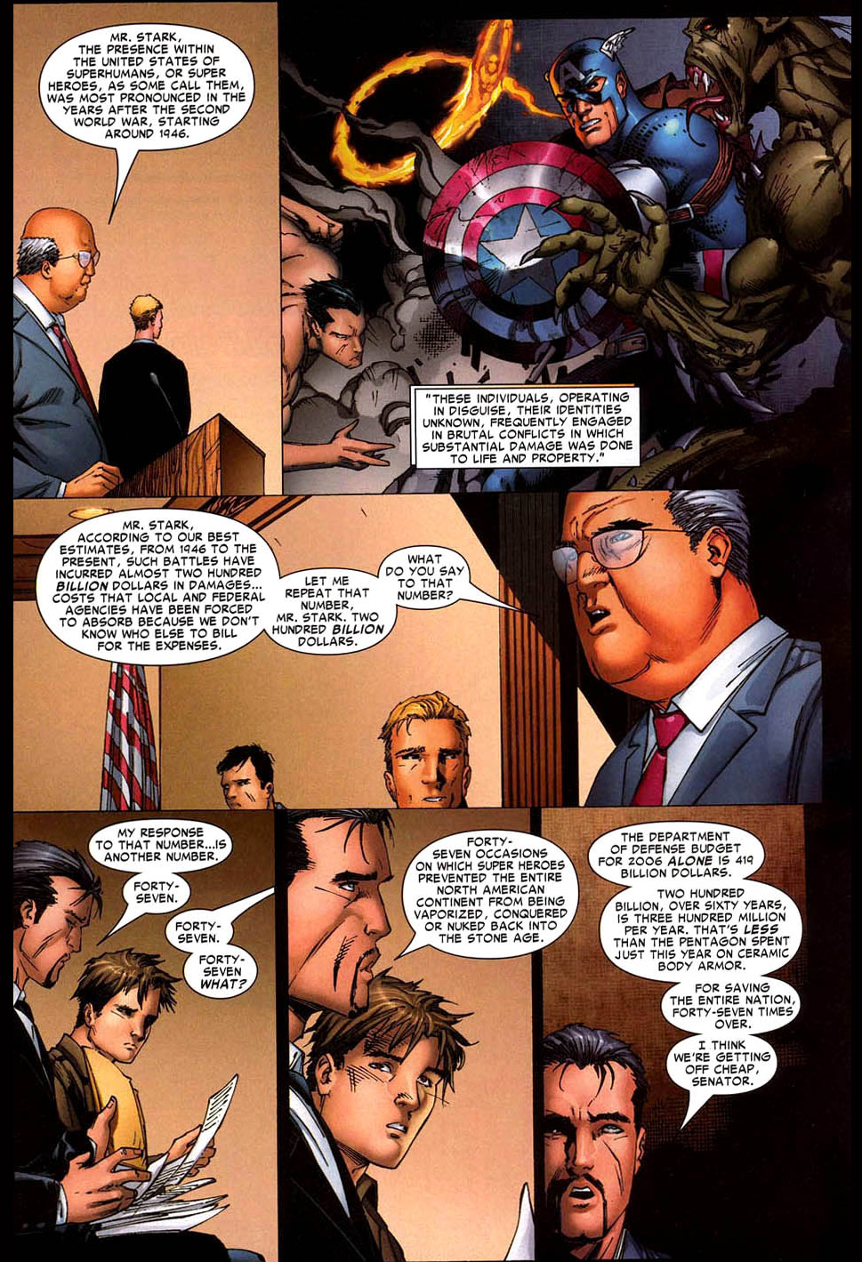 tony stark and peter parker argue against super human registration