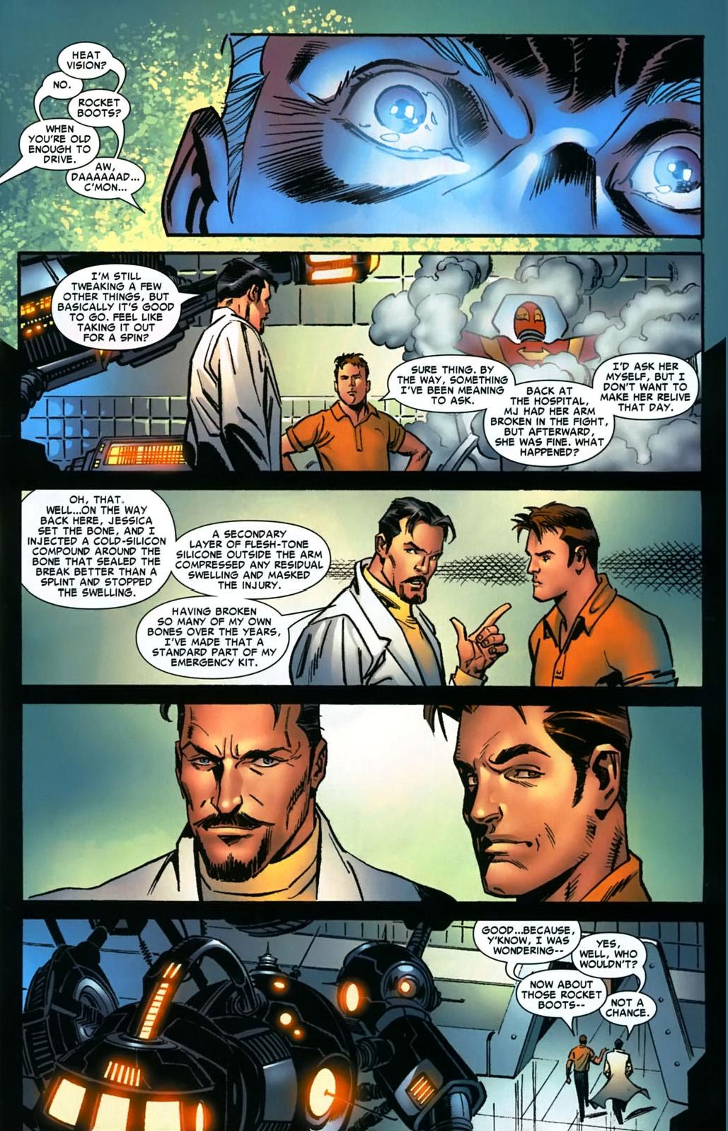 tony stark creates the iron spider suit