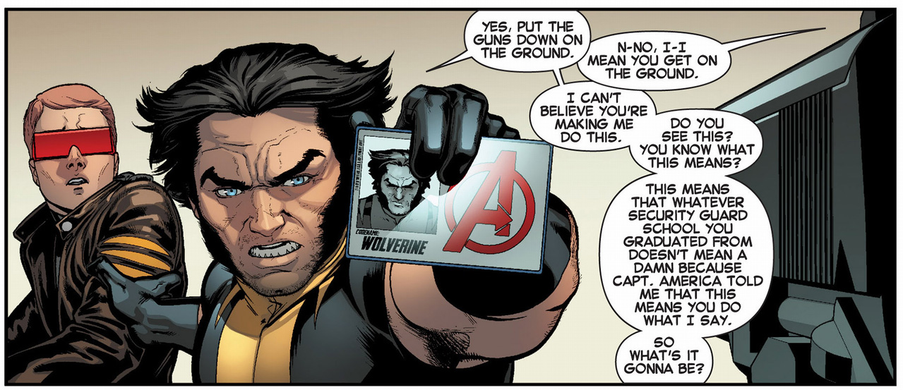 wolverine's avengers id card