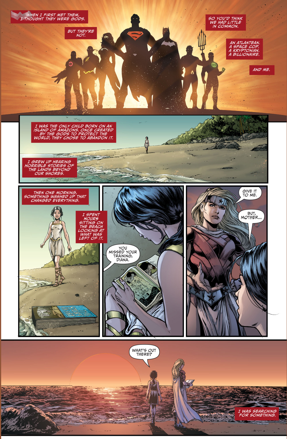 wonder woman's thoughts on the justice league