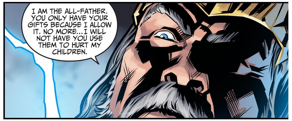 zeus strips shazam of his powers