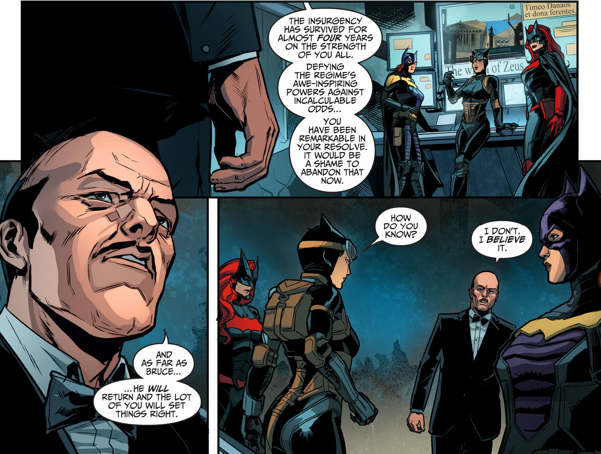 alfred pennyworth's pep talk to the birds of prey
