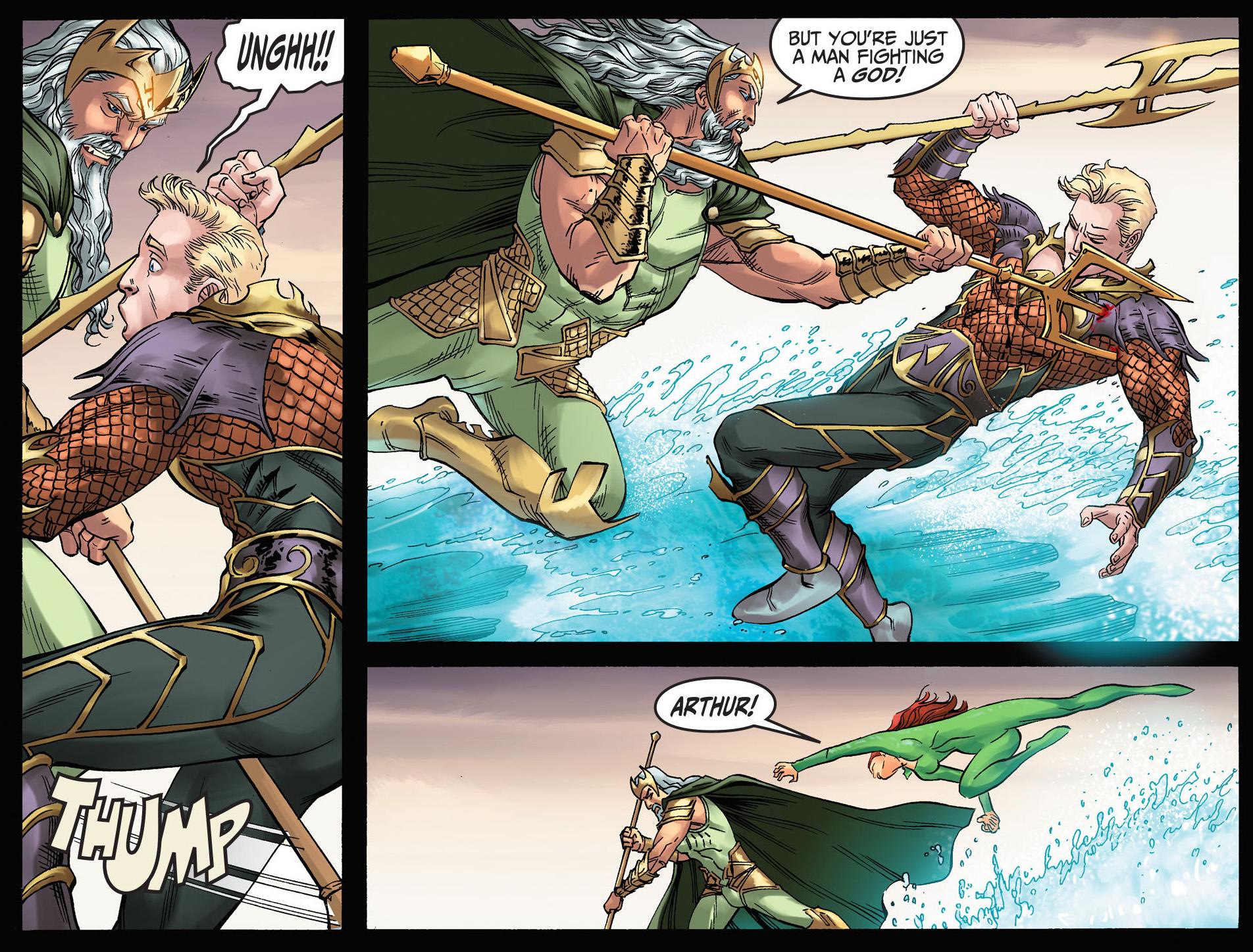 aquaman and mera vs poseidon (injustice gods among us)