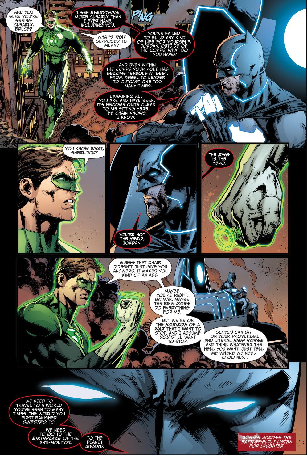 bat god's assessment of green lantern