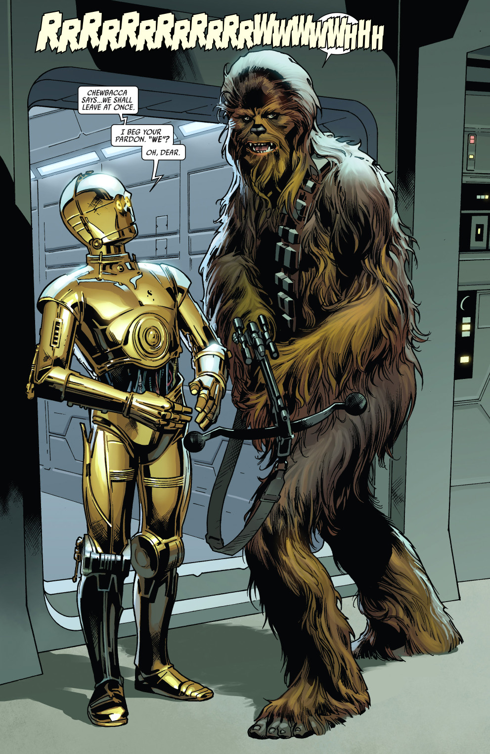 chewbacca and threepio