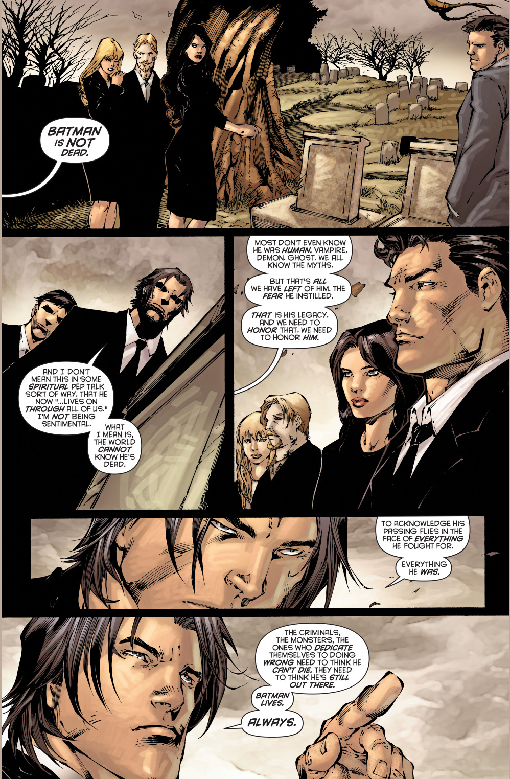 dick grayson's eulogy for batman