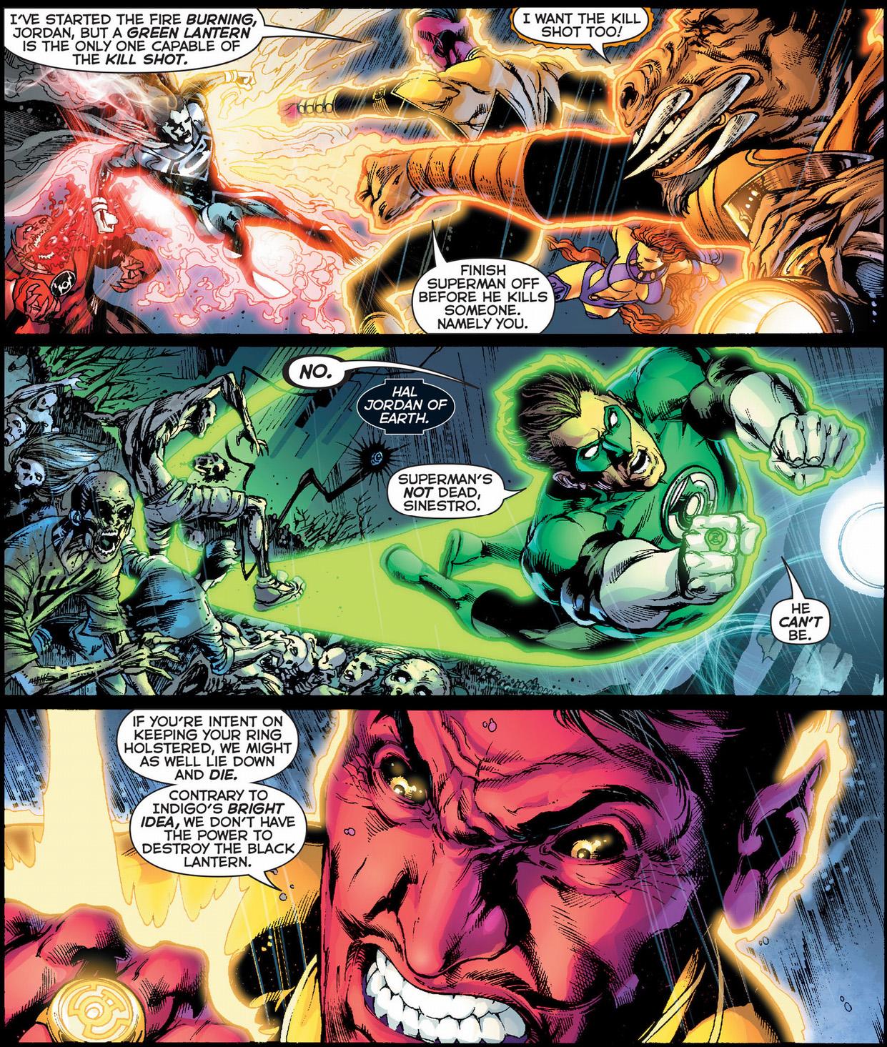 green lantern vs black lantern superman