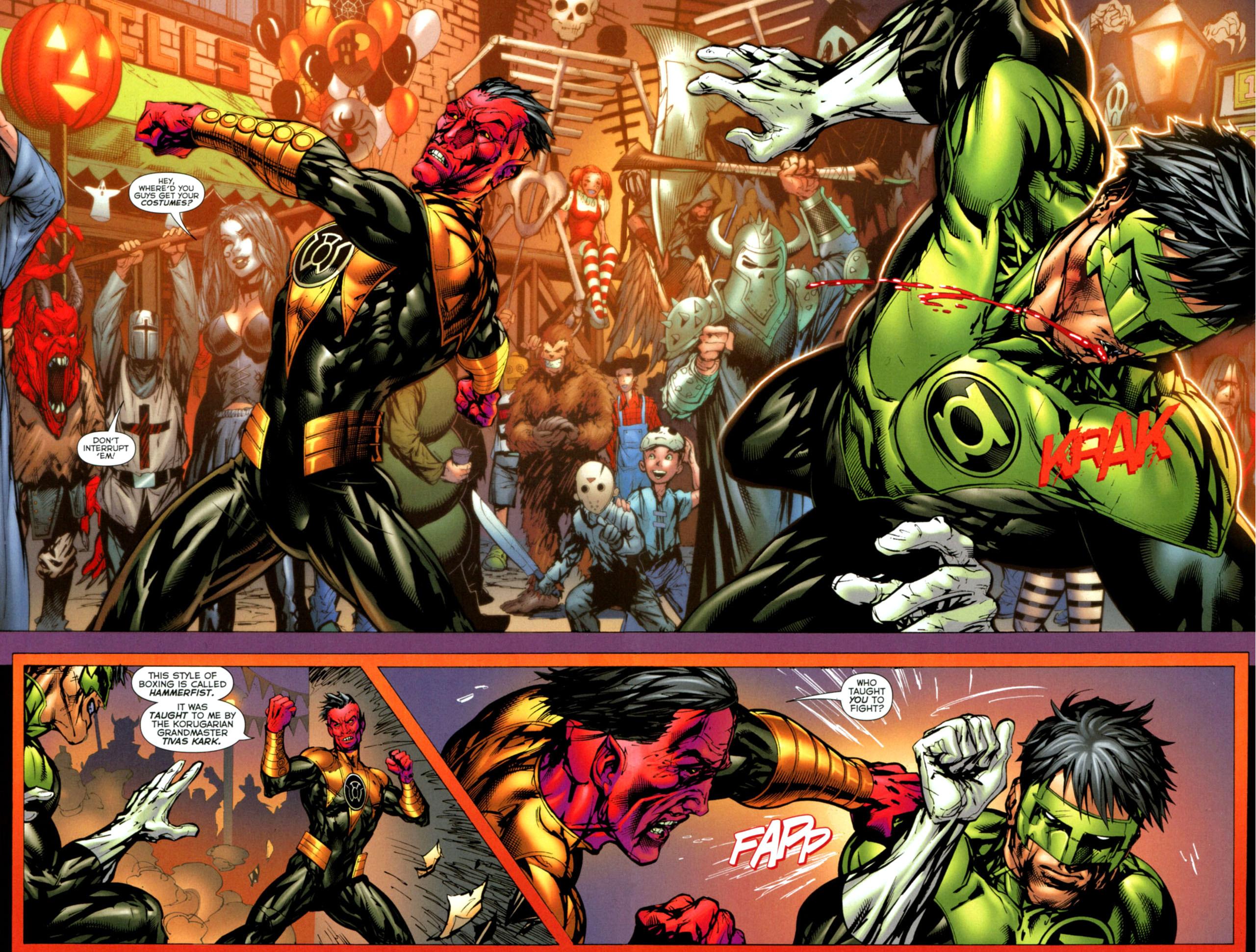 green lantern vs sinestro fist fight