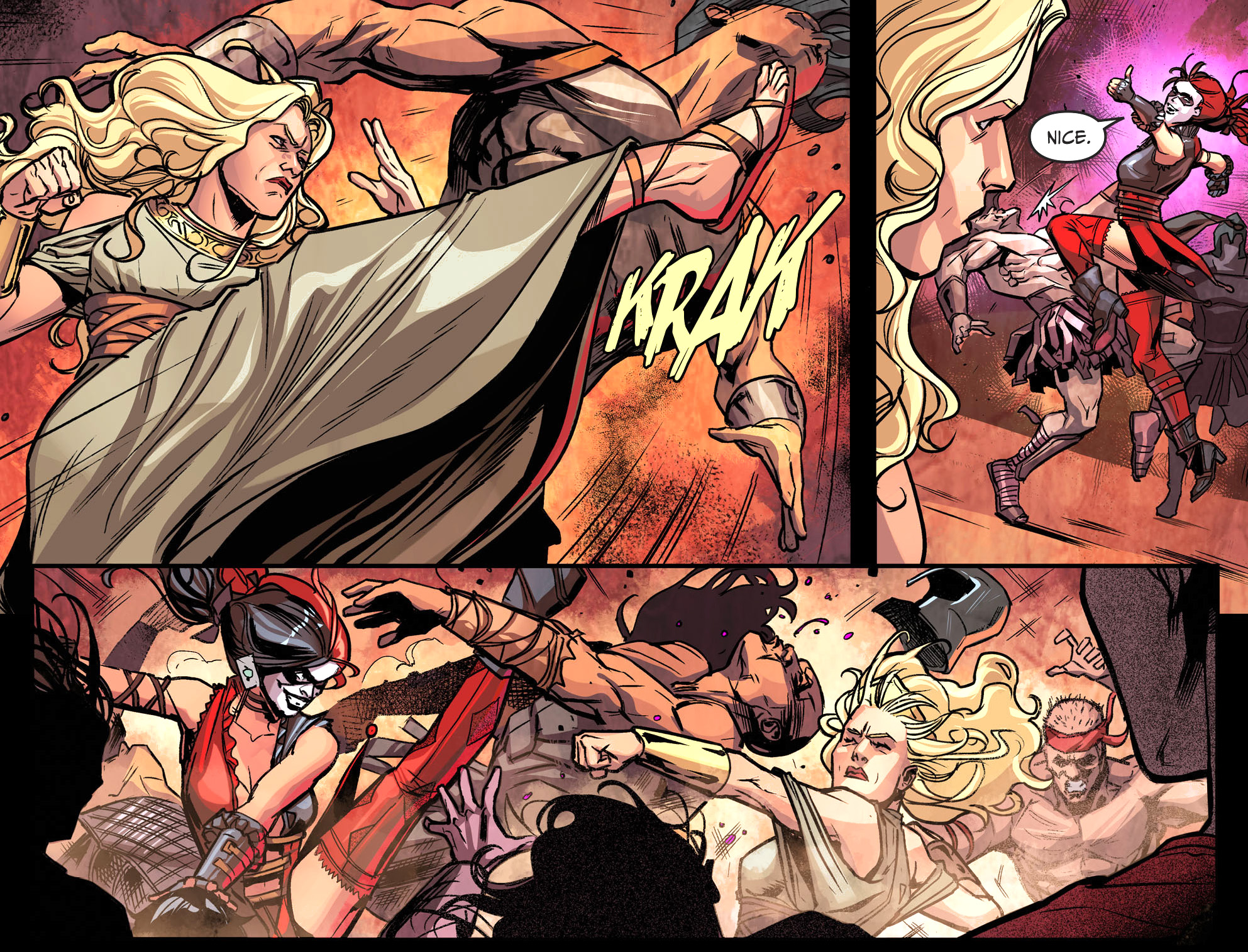 harley quinn and hippolyta team up in tartarus