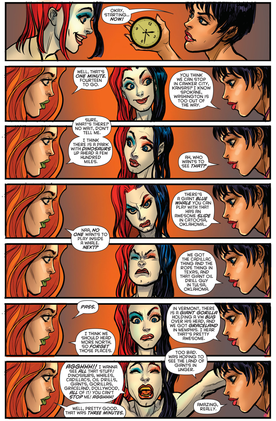 harley quinn, poison ivy and catwoman play truth or dare