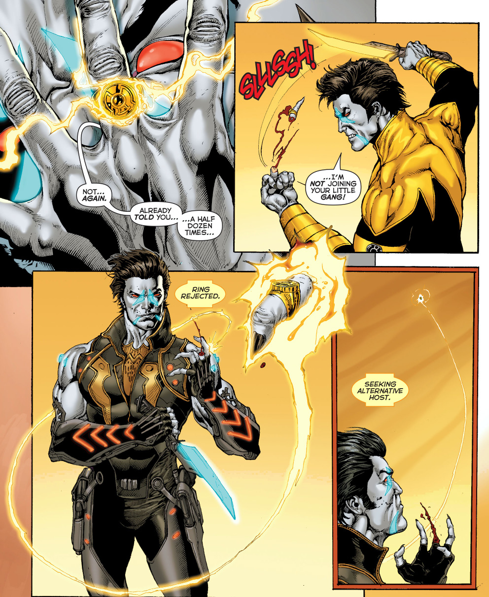 lobo is chosen by a sinestro corps ring