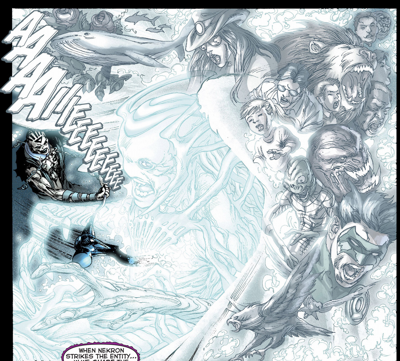 nekron attacks the white entity