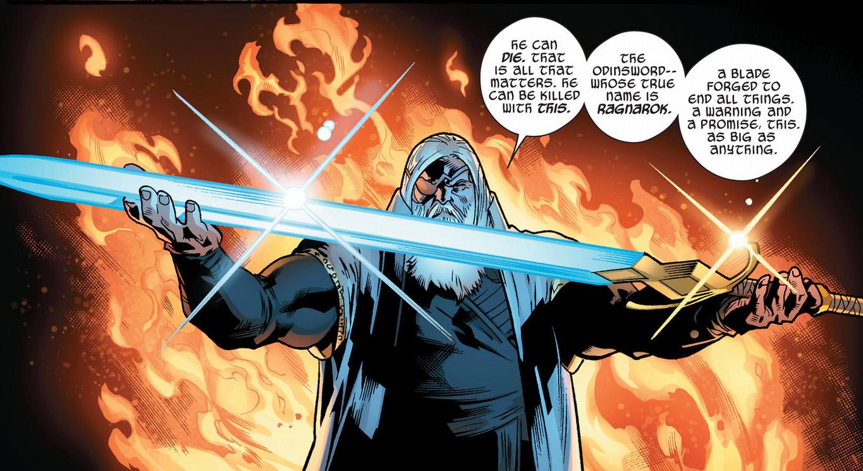 odin gives thor the ragnarok