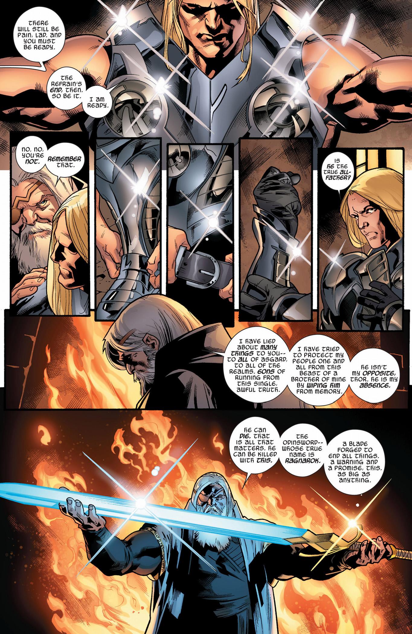 odin reveals his secret to thor