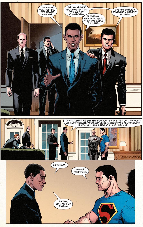 superman meets president obama