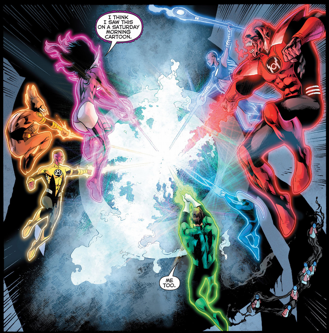 the 7 lantern corps attacks the black battery
