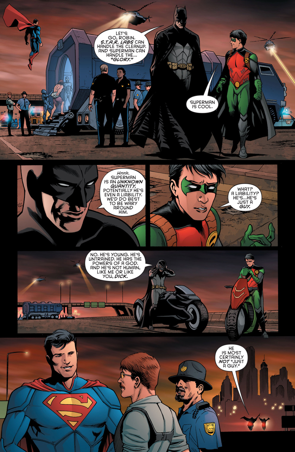 batman doesn't think superman is cool