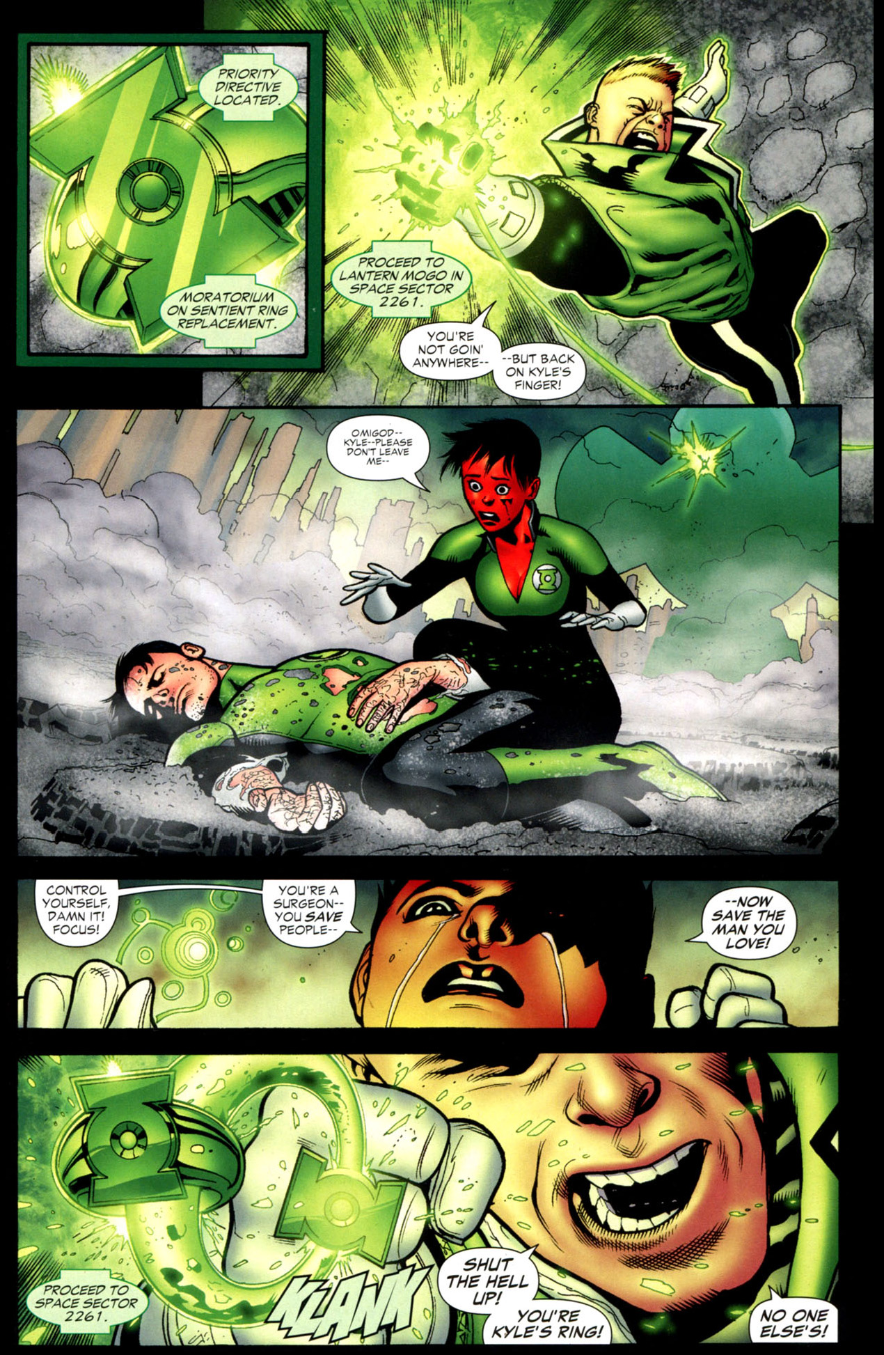how guy gardner became a red lantern (blackest night)