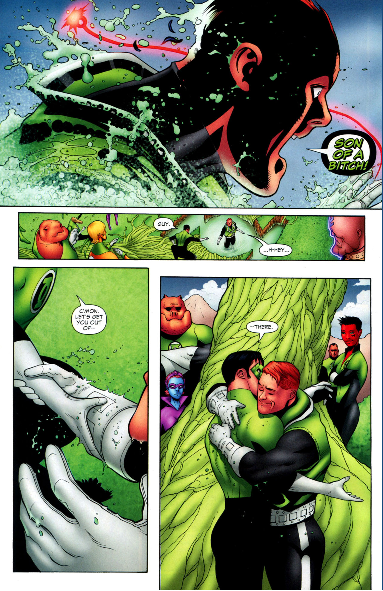how guy gardner was freed from a red ring
