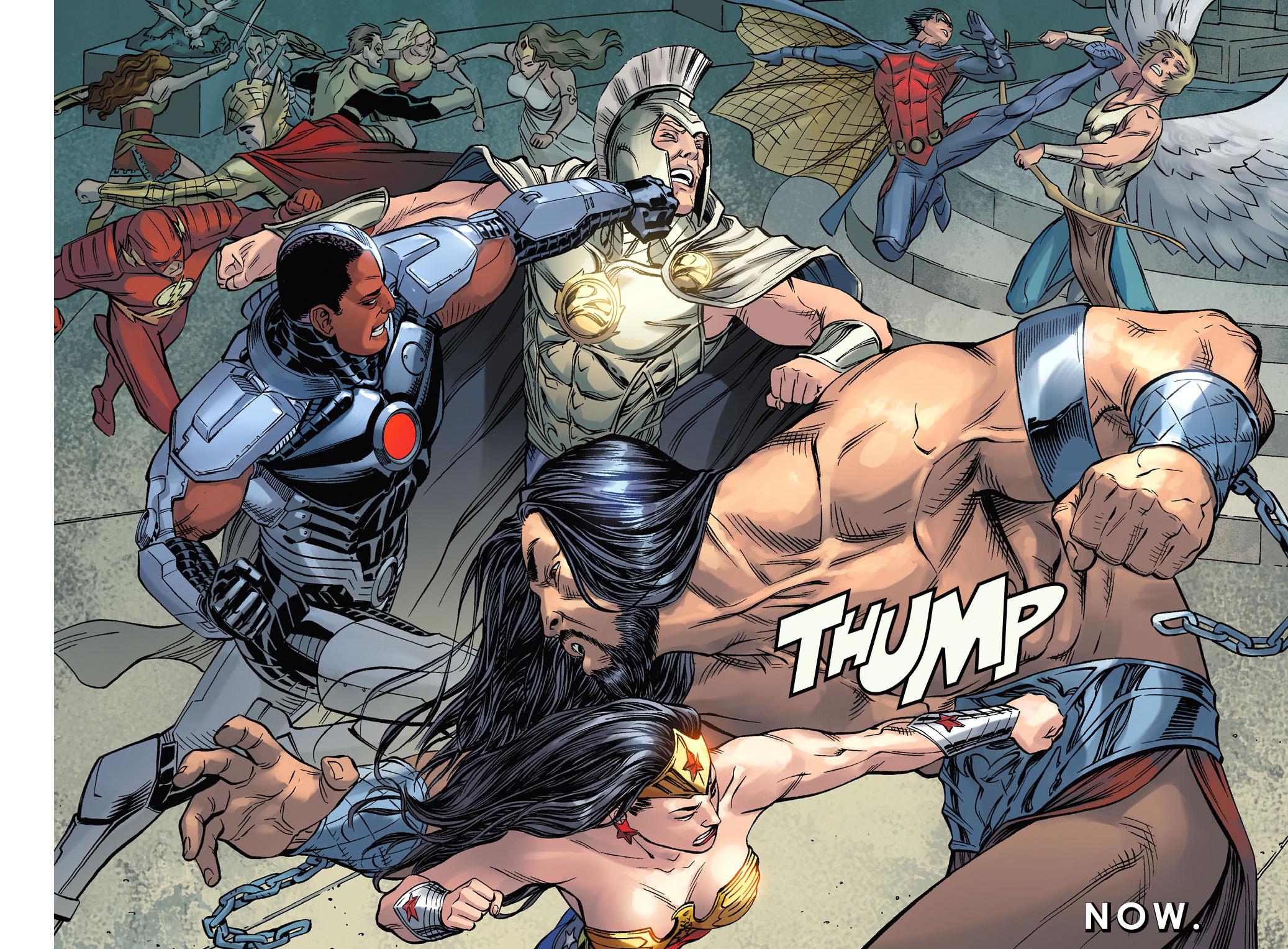 justice league vs greek gods (injustice gods among us)
