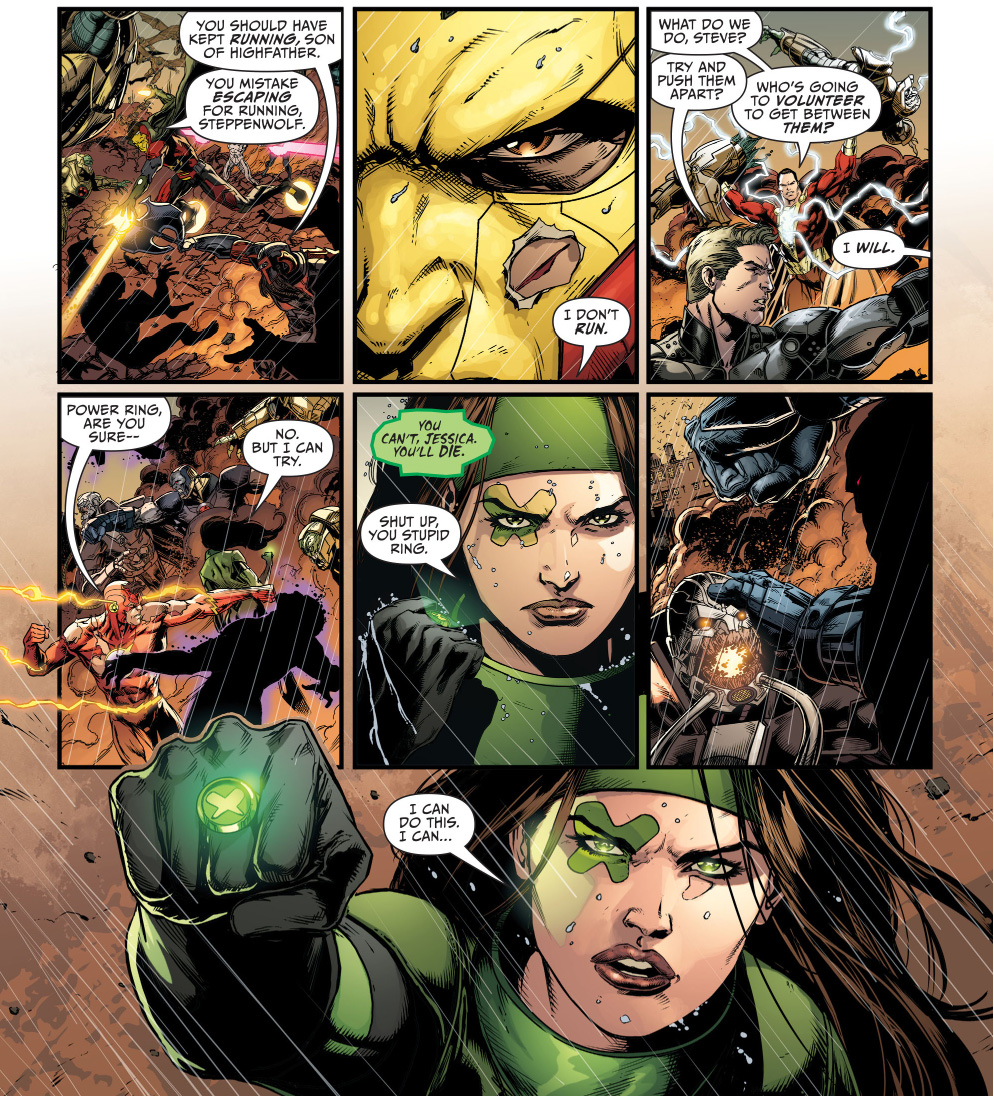 power ring gets in between darkseid and the anti-monitor