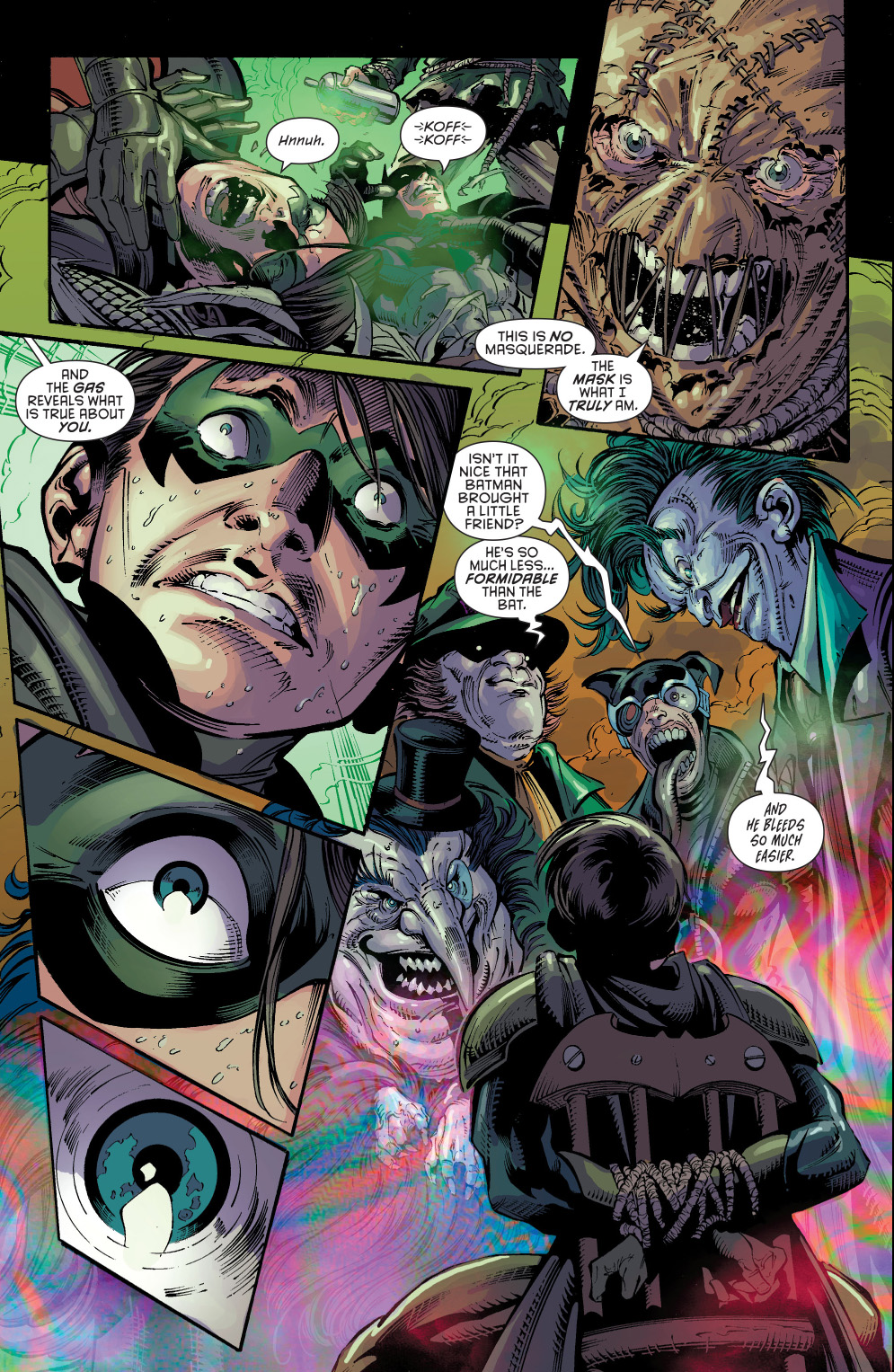 robin's hallucinations from the fear toxin (new 52)
