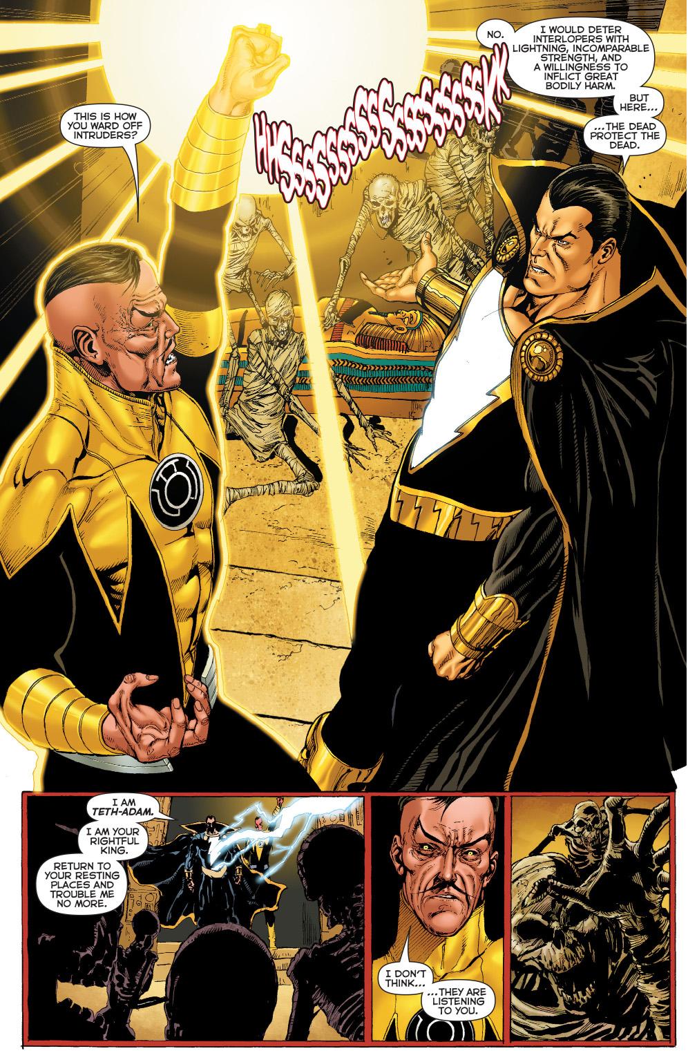 sinestro and black adam vs mummies
