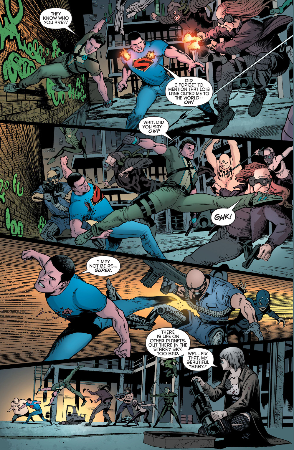 superman and dick grayson vs the fist of cain