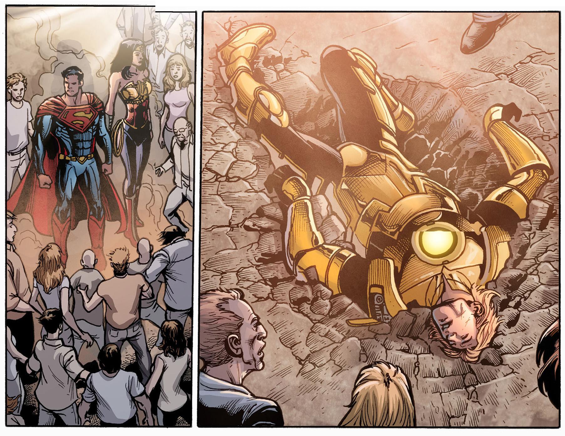 superman and wonder woman vs galaxor