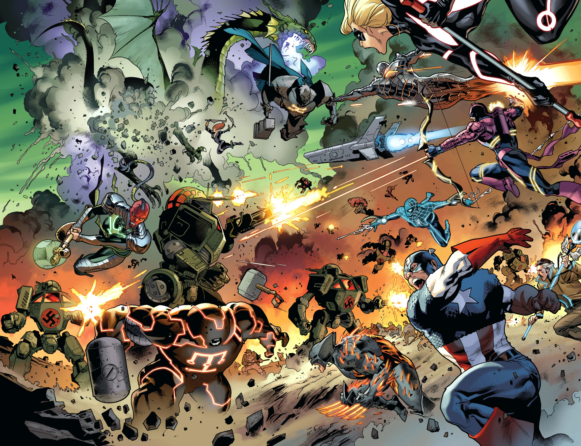 the avengers vs the serpent's army