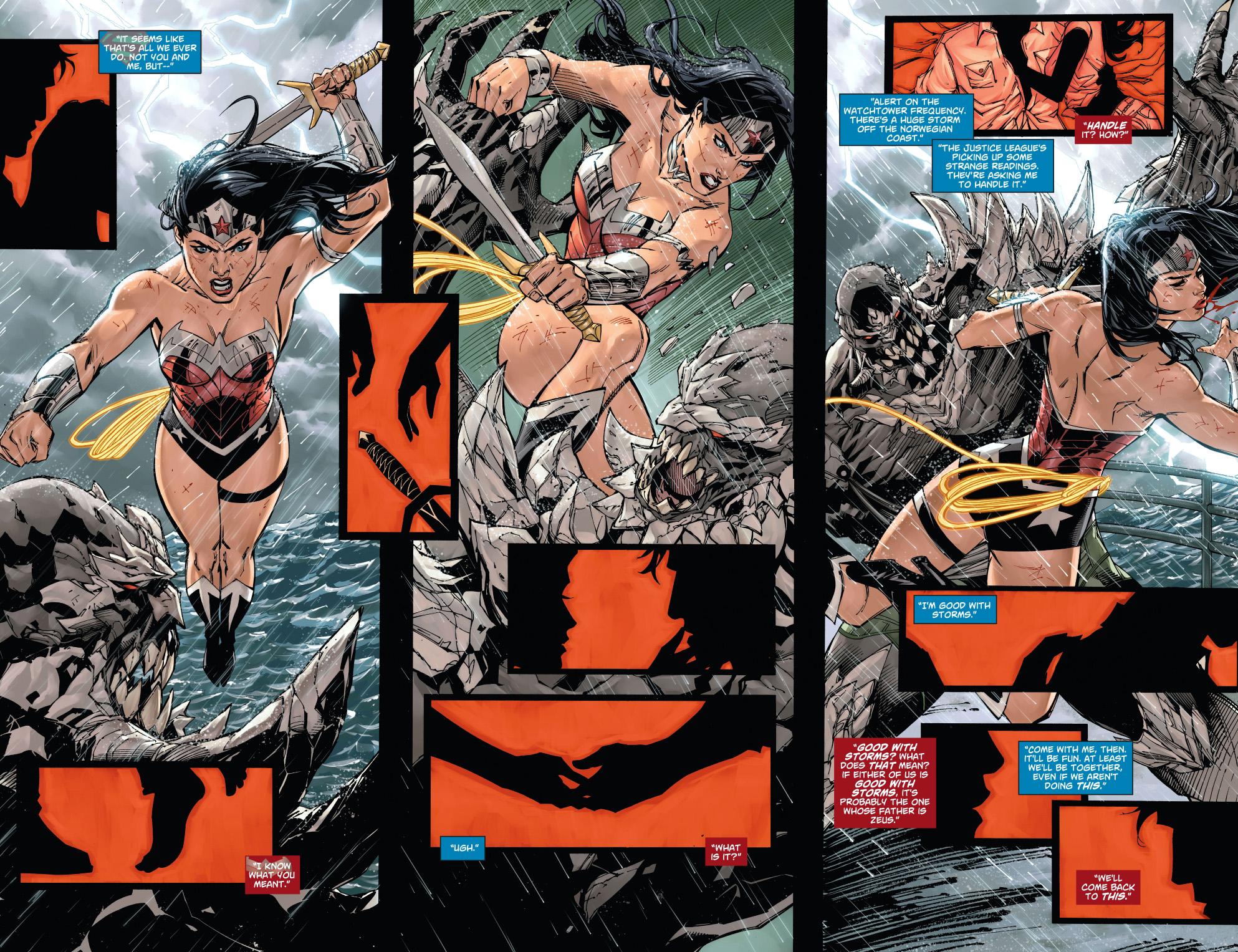 wonder woman vs doomsday (new 52)