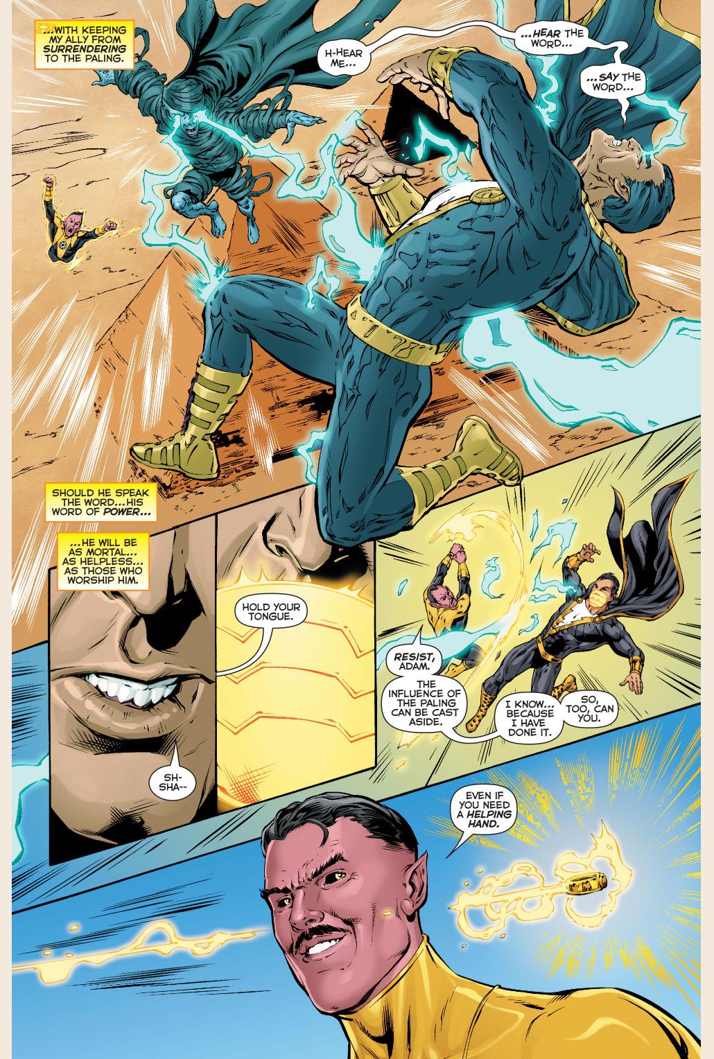 black adam joins the sinestro corps