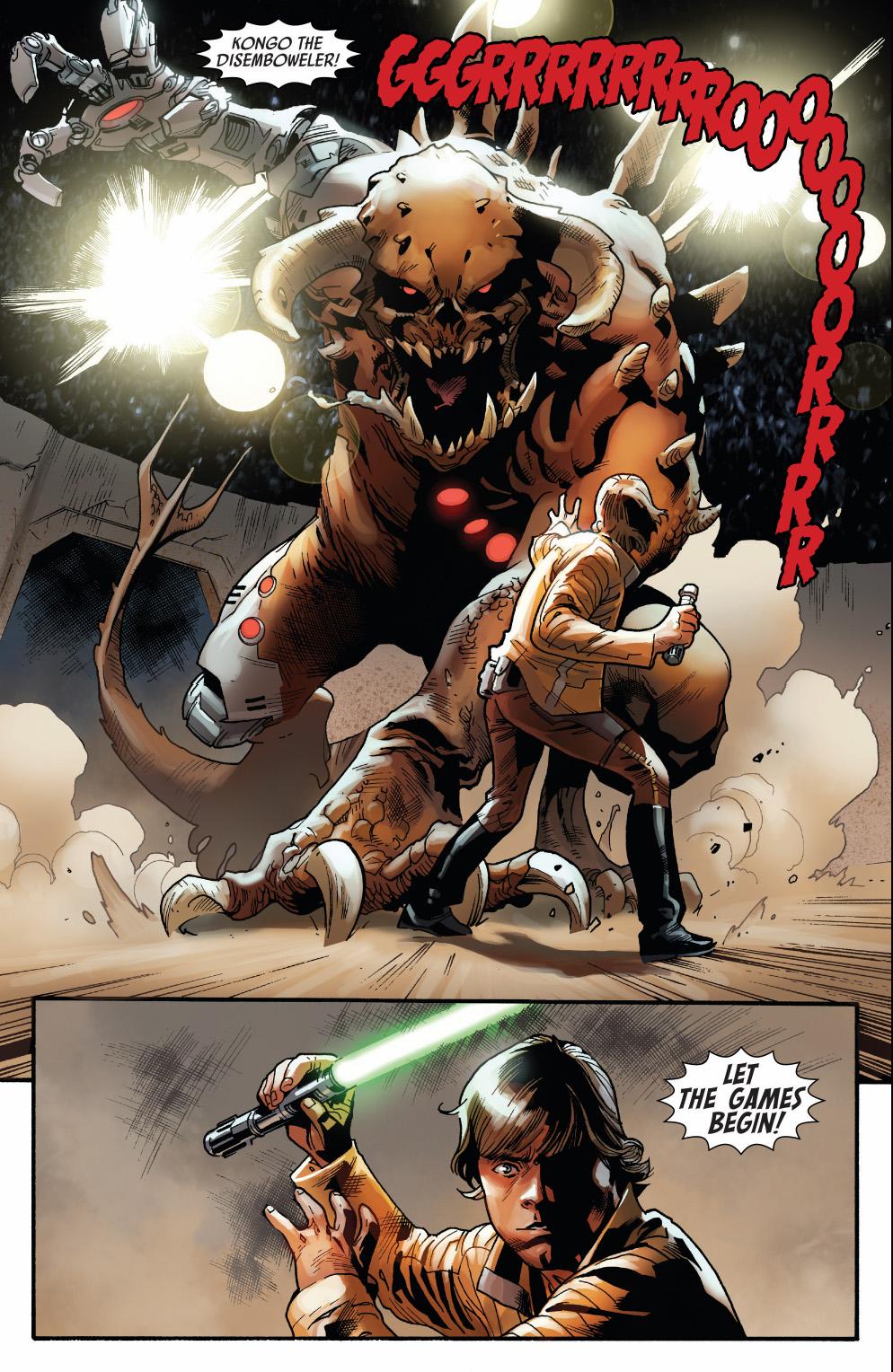 luke skywalker vs kongo the disemboweler