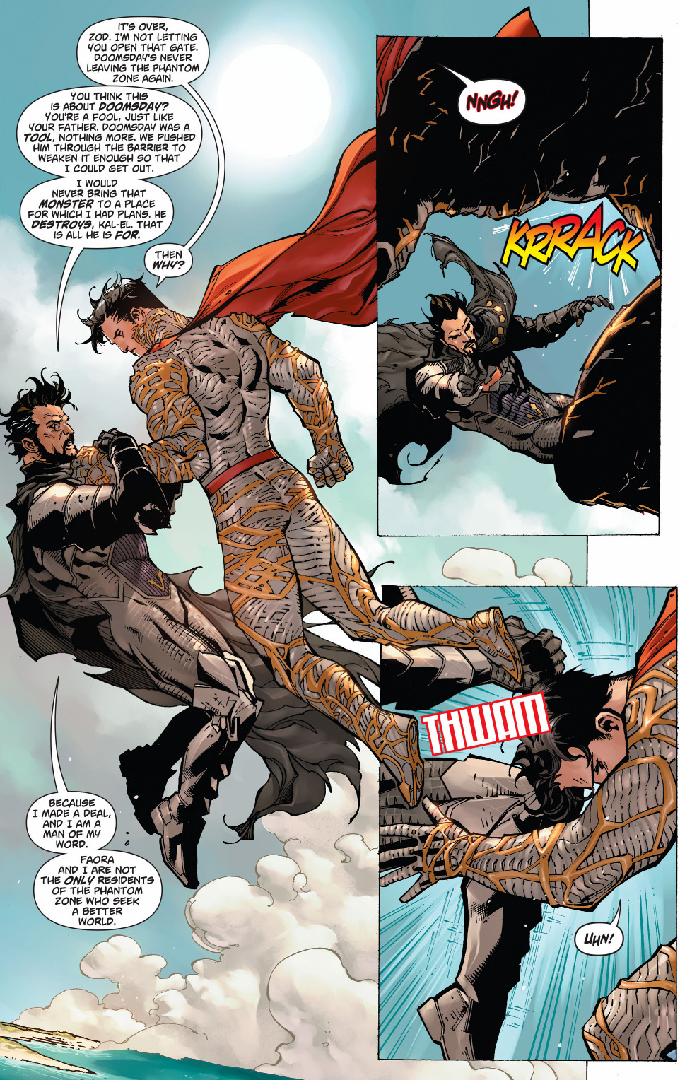 superman and wonder woman vs zod and faora