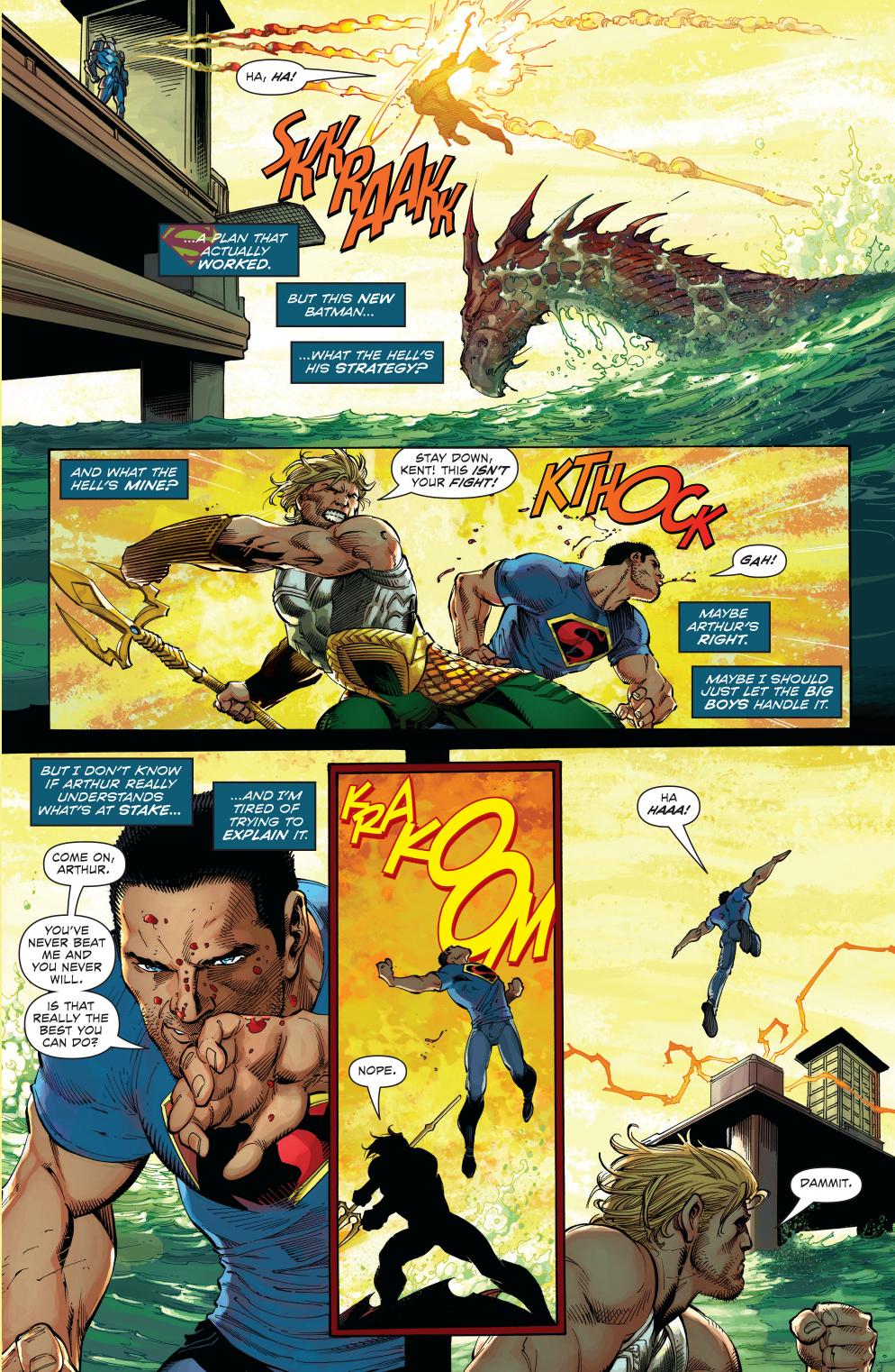 aquaman vs superman (new 52)
