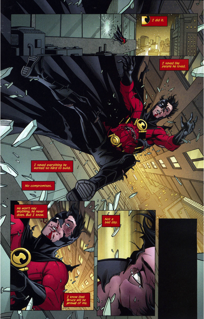 batman (dick grayson) rescues red robin