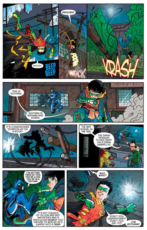Batman (Jim Gordon) vs Robin (Damian Wayne)
