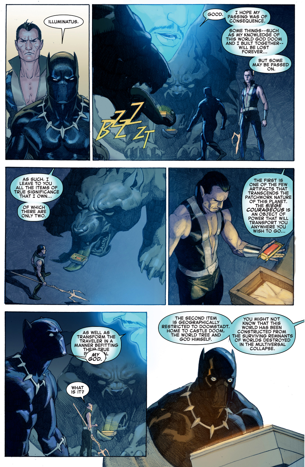 black panther finds an infinity gauntlet