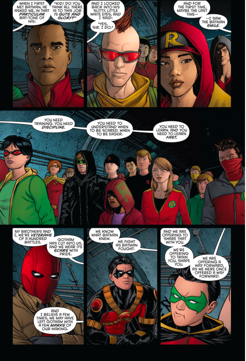 dick grayson agrees to train i am robin group