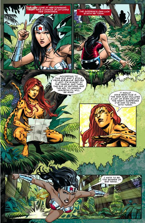 God Of War Wonder Woman VS The Cheetah (New 52)