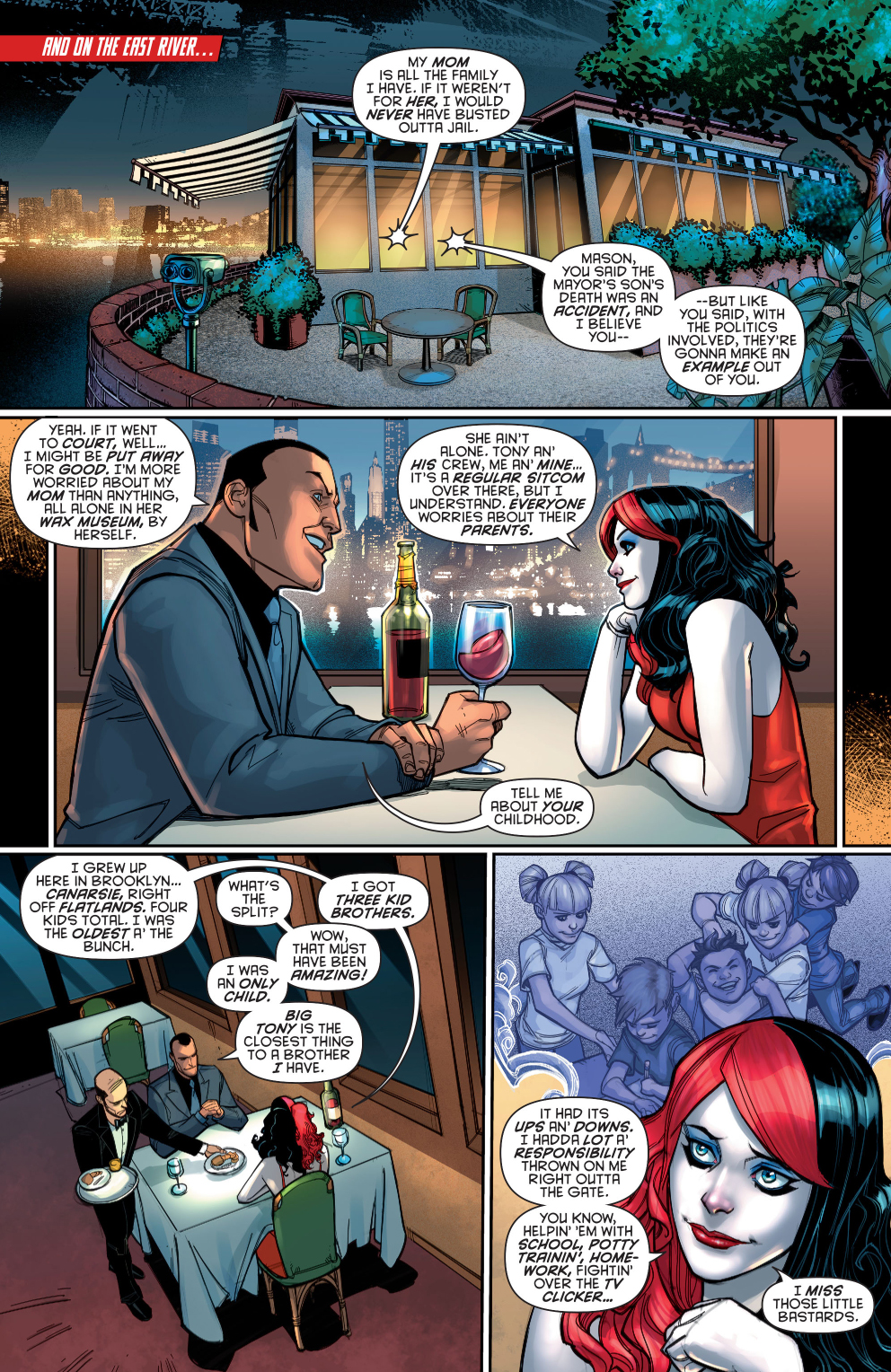 harley quinn talks about her brothers