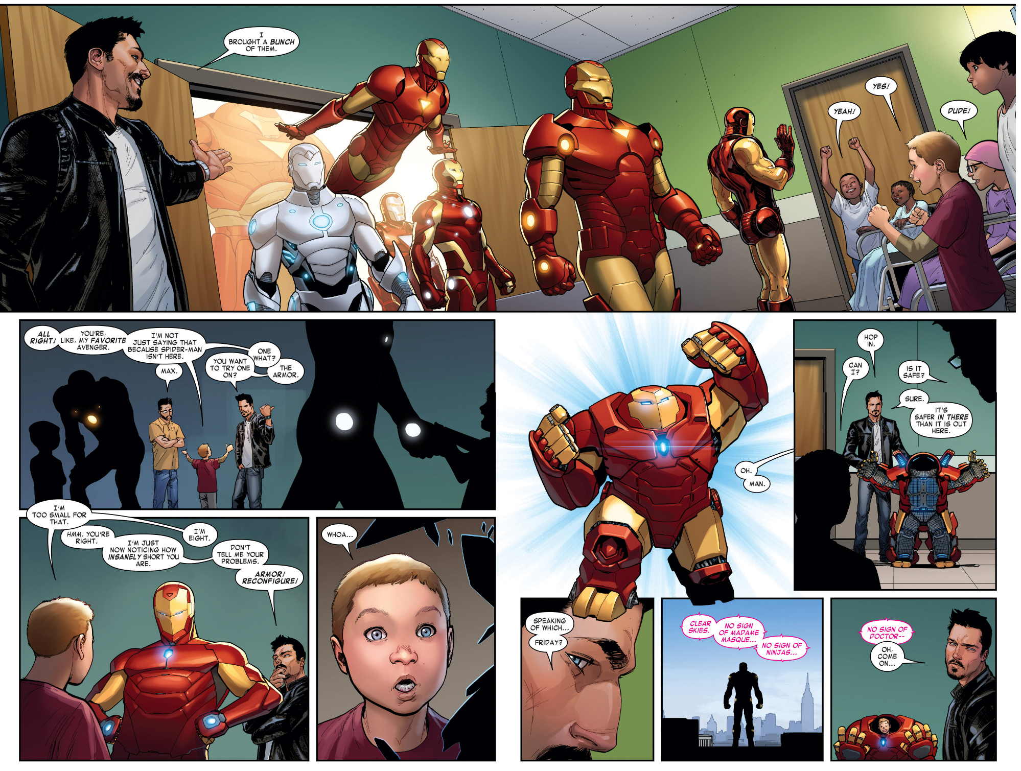 iron man visits sick kids
