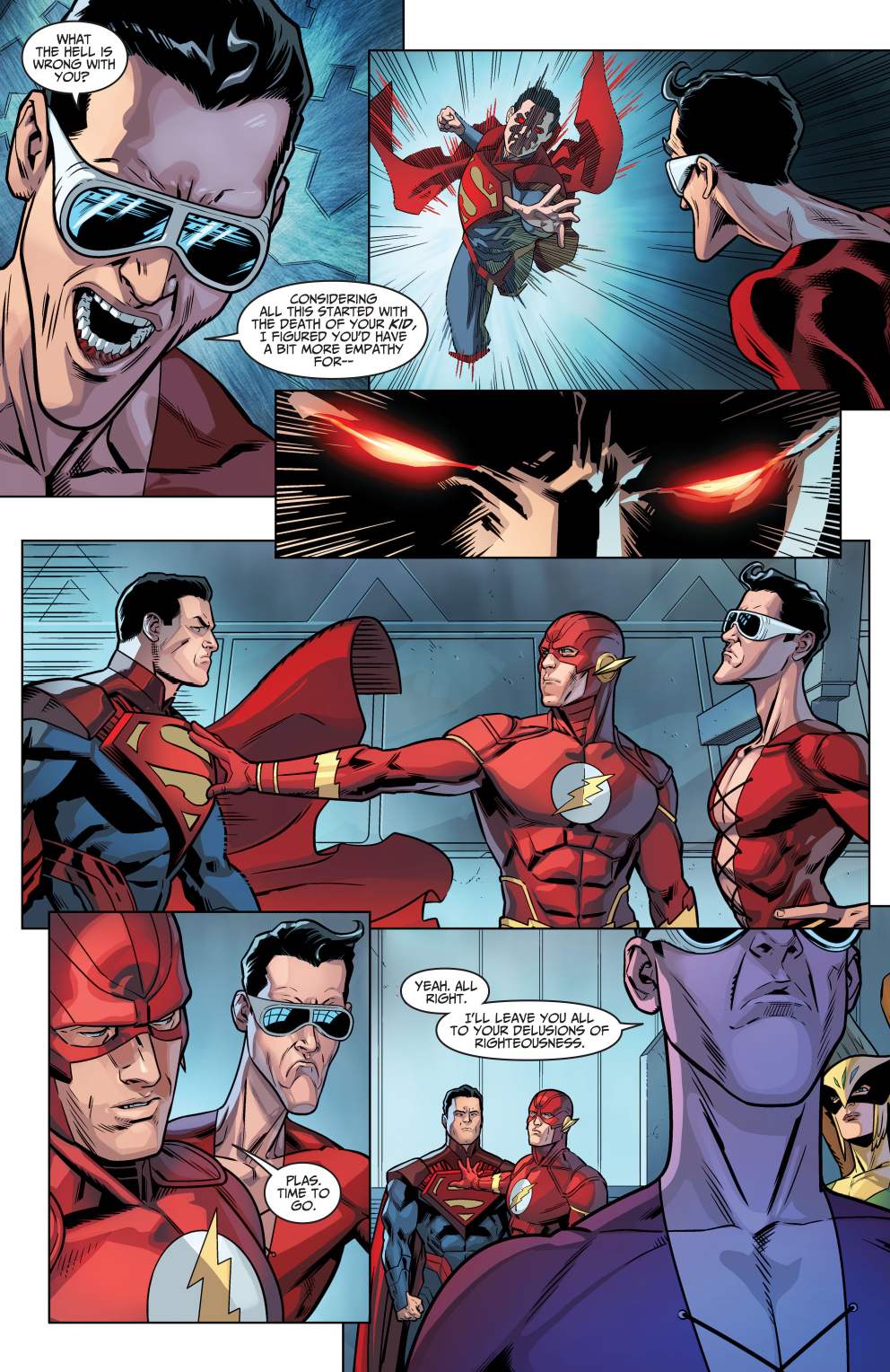 plastic man points out why superman is a villain