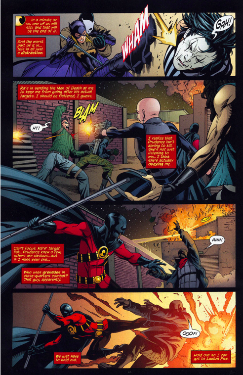red robin and batgirl vs the 7 men of death 3