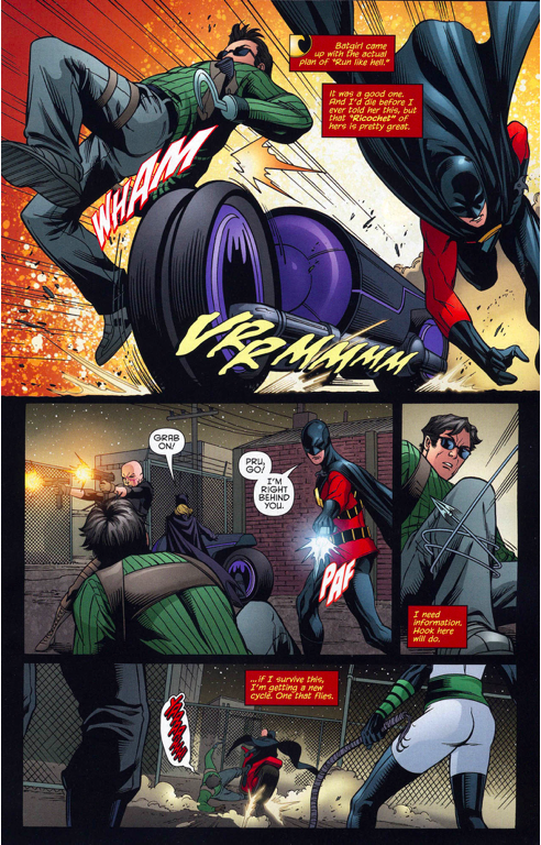 red robin and batgirl vs the 7 men of death 5