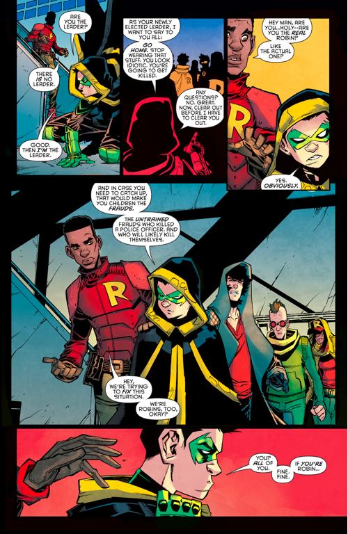 robin (damian wayne) confronts we are robin