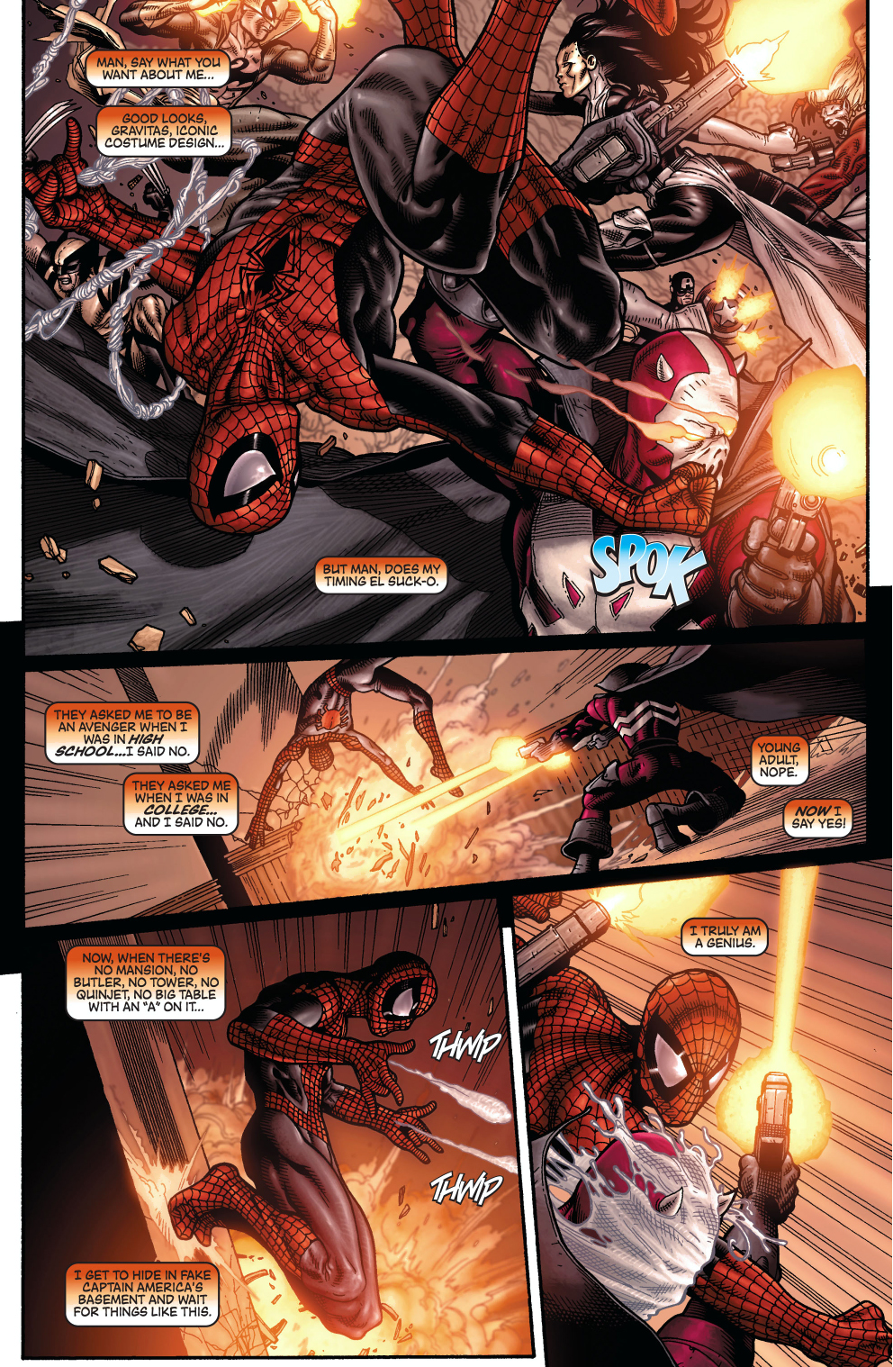spider-man has the most rotten timing
